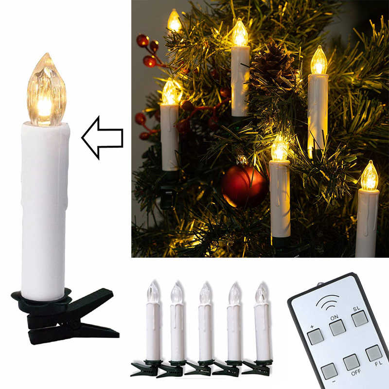 Holiday Led Candles Wireless Remote Control Tealights Battery Operated Light For Home Christmas Tree Party Wedding Decoration Candles Aliexpress