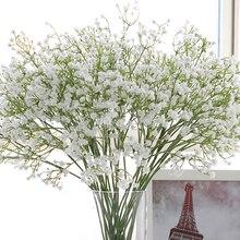 Искусственное детское дыхание, искусственное Силиконовое растение для украшения свадьбы, дома, отеля, вечеринки, 5 цветов, 1 шт.