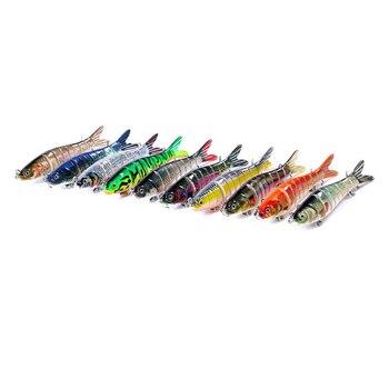 Señuelos de Pesca manivela cebo aparejos de pesca Triple ganchos de Metal cebo de pesca lubina de articulación de señuelo de pesca para la pesca