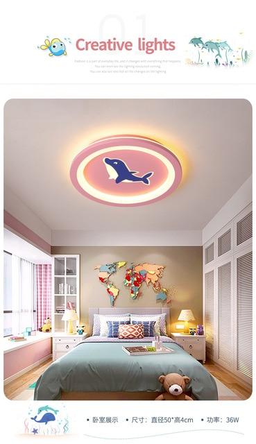 Новый потолочный светильник для детской комнаты мультяшный простой