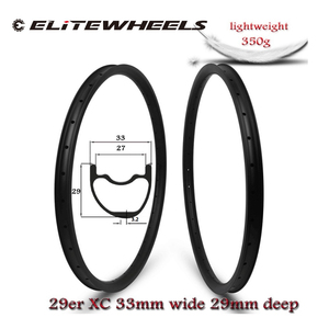 Image 2 - Super Light 29er MTB Carbon Rim Tubeless Ready Weight 355g 33*29mm Width For XC/AM Cross Country Mountain Wheels Asymmetric Rims