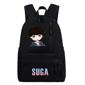 KPOP Bangtan Boys динамитный рюкзак JK SUGA V школьная сумка модная универсальная Повседневная Холщовая Сумка для мужчин и женщин
