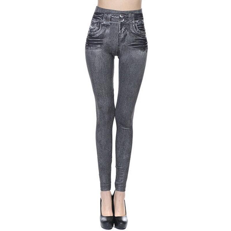 Slim Jeans For Women  High Waist Jeans Woman Blue Denim Pencil Pants Stretch Waist Women Jeans Pants High Waist Jeans