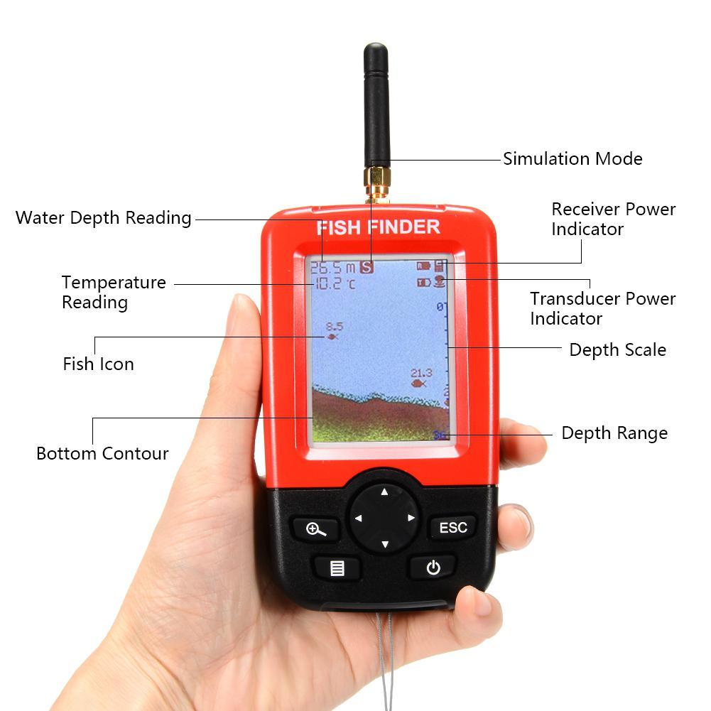 com 100 m sem fio sonar sensor
