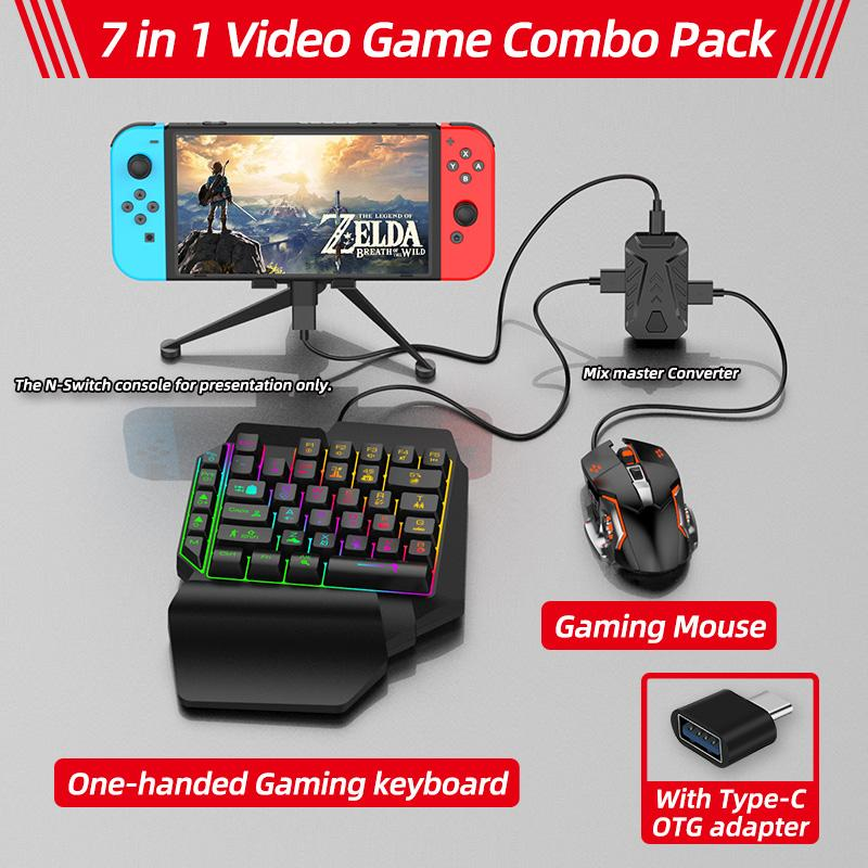 7-in-1 Keyboard And Mouse Converter For Switch Ps4 Pro Xbox One Keyboard Mouse Voice Converter