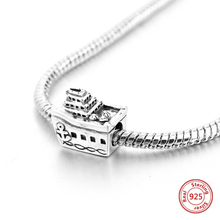 Strollgirl new 100% 925 Sterling Silver Personalized Cruise Ship Pendant Beads Fit Pandora Bracelet Woman Fashion Jewelry Gifts