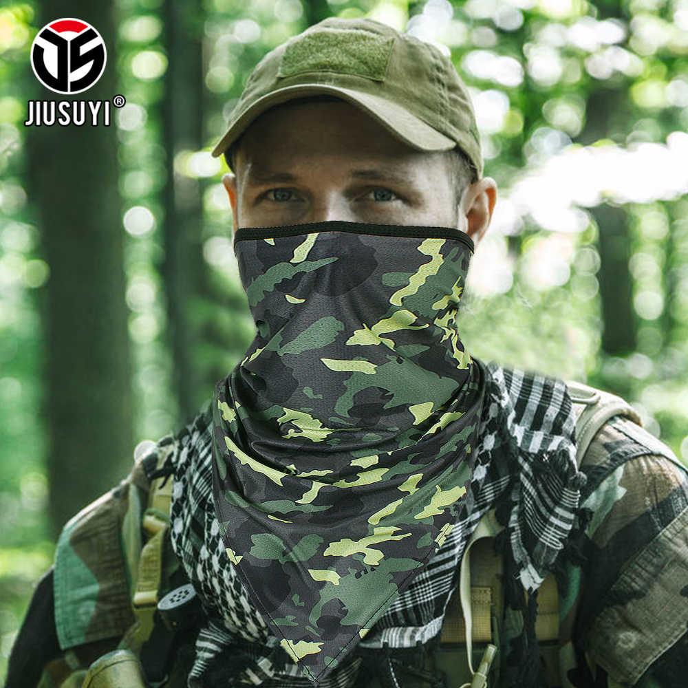 труба шарф бандана Тактическая летняя трубка, камуфляжная повязка на голову, военная Балаклава, треугольная Ветрозащитная маска, мягкая тонкая упаковка, шейный жилет для мужчин