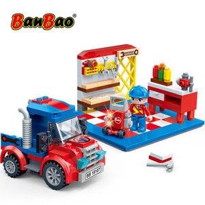 Image 4 - BanBao Racing Car Garage Pull Back Off road Vehicle Bricks Educational Building Blocks For Kids Children Model Toys Gift