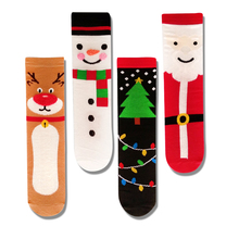 Fashion funny Christmas short socks women cartoon cute winter ankle socks Santa elk snowman fun sock