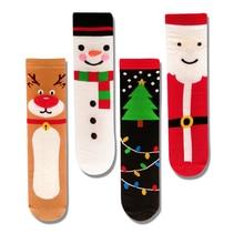 Fashion funny Christmas short socks women cartoon cute winte