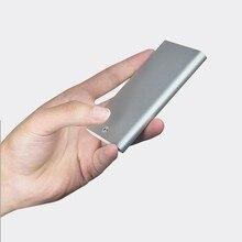 Xiaomi MIIIW Thẻ Chứng Minh Thư Hộp Túi Ví Inox Nhôm Bạc Thẻ Tín Dụng Ốp Lưng Unisex