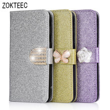ZOKTEEC For Doogee X9 mini Fashion Bling Diamond Glitter Leather Flip Case For Doogee X9/X9 Pro Smart Cover case With Card Slot doogee x9 1gb 8gb smartphone black