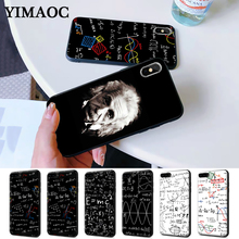 лучшая цена mc2 with E=mc Math Albert Einstein Silicone Case for iPhone 5 5S 6 6S Plus 7 8 11 Pro X XS Max XR