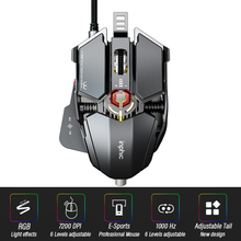 Ergonomic Gaming Mouse Computer-Mice Gamer Wired Laptop Usb-Cable Optical Adjustable Tail Mouse Professional Mouse Gamer 7200DPI