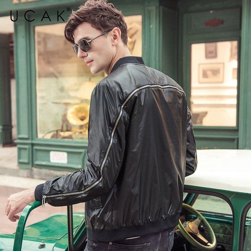 UCAK Brand Bomber Jacket Men Streetwear Fashion Zipper Coat Men Clothes 2019 New Autumn Winter Mnes Jackets And Coats Tops U8001