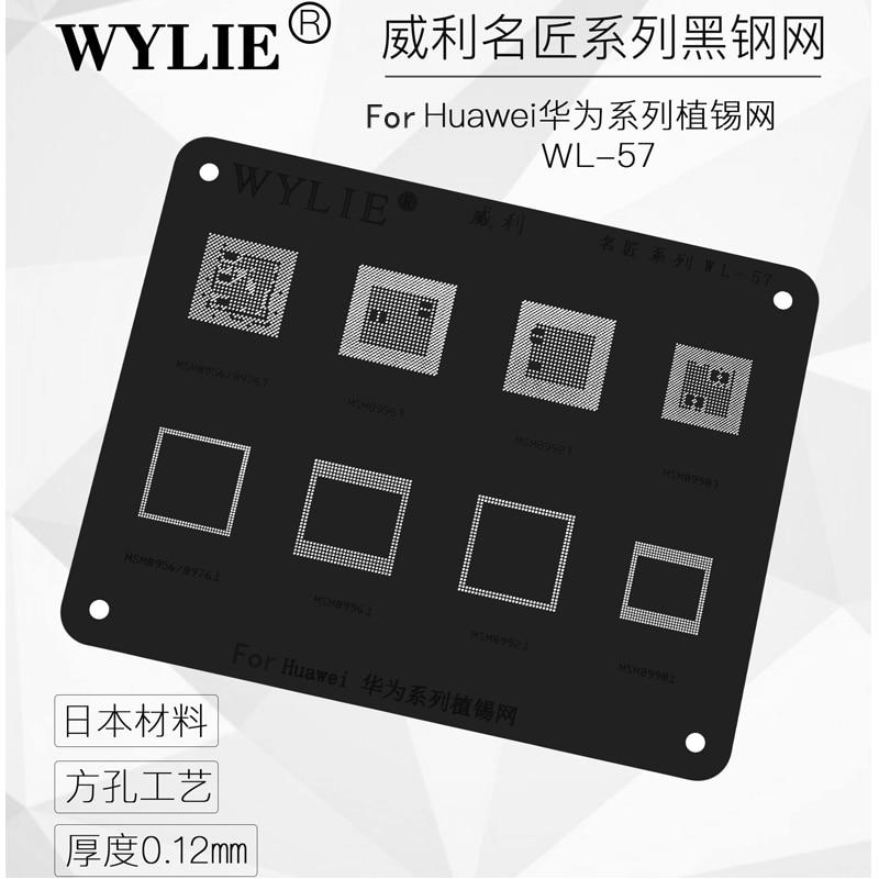 Wylie BGA Reballing Stencil for Huawei samsung CPU RAM IC Chip MSM8998 MSM8996 MSM8992 MSM8956 MSM8976 1