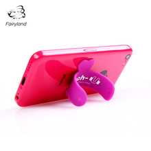 Silicone Mobile Phone Stand U shape Desktop Phone Holder  Wholesale Hot Selling Universal Lazy Bracket For Smartphone Tablet PC