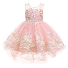 Lace Vintage Kids Dresses For Girls Elegant Princess Wedding