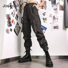 Брюки карго jocecat женские с завышенной талией хлопковые штаны