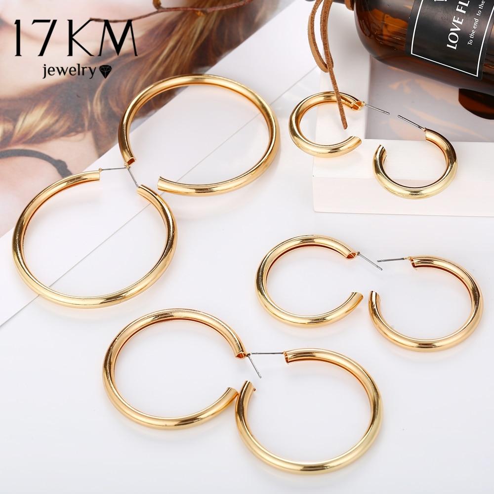 3 шт./компл. золотые серебряные большие круглые Комплект сережек для женщин круглые геометрические серьги 2019 большие серьги статусные модные ювелирные изделия