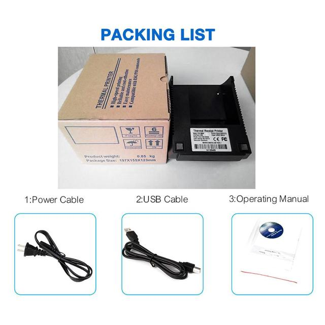 Zjiang POS Thermal Printer Mini 58mm USB POS Receipt Printer For Resaurant Supermarket Store Bill Check Machine EU US Plug 5