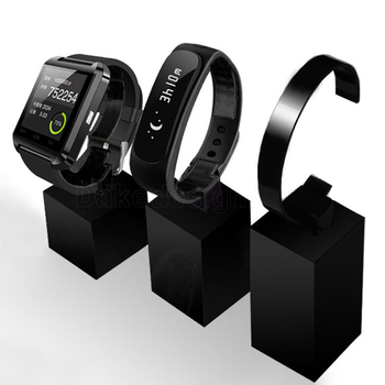 Watch Stand Case Acrylic Cube Display Rack S/M/L Black Watch Bracket Rotating Men Women Jewelry Watch Display Holder Stand wholesale 10pcs hat display stand stainess steel cap display rack adjustable metal men women s wig hairpiece holder showing prop