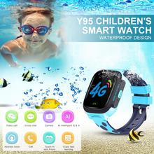 Y95 4G Children's GPS Positioning  Smart Watch AI Payment WiFi Chat On Wrist SOS Emergency Call SmartWatchs For For Kids Student цена и фото