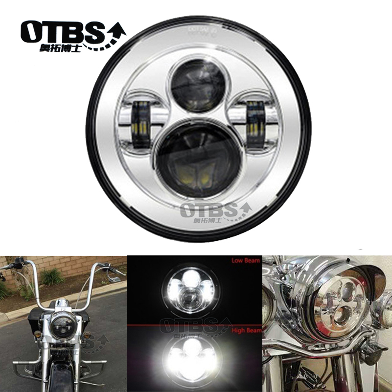 7 ''LED siyah projektör far Motor sokak Glide FLHX Touring/Yamaha v star XVS 650 1100 özel Silverado -