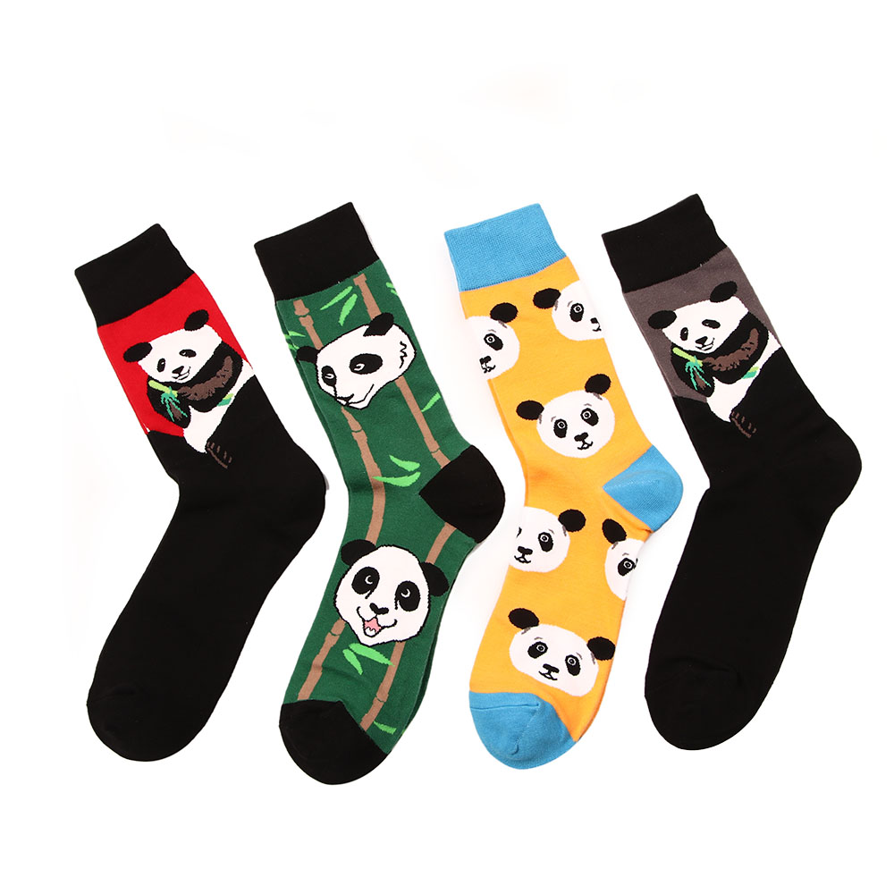 Fashion Original Men's Socks Cotton Colorful Dress Happy Socks Novelty Animal Panda Patterned Harajuku Men Sock Gift