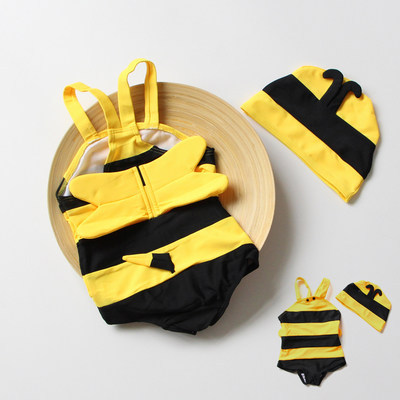 KID'S Swimwear Small Bee-Boys' Cotton One-piece Swimsuit + Swim Cap Manufacturers Direct Supply