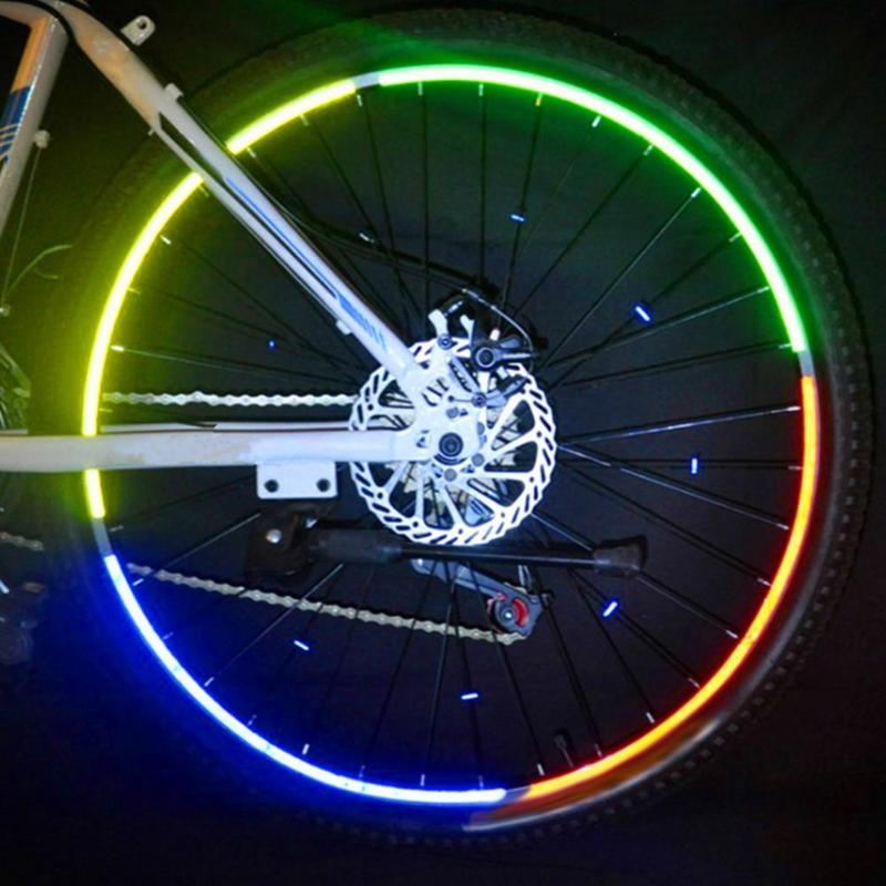 26 Inch Bicycle Reflector Fluorescent MTB Bike Sticker Cycling Wheel Rim Reflective Stickers Decal Bicycle Accessories