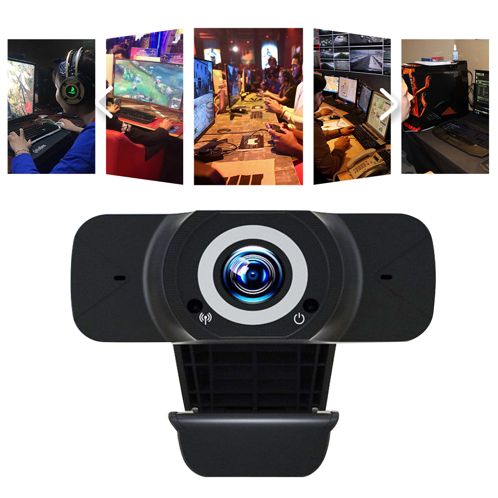 Full HD 1080P Webcam USB Computer Camera with Microphone Driver free Video Webcam for Online Teaching