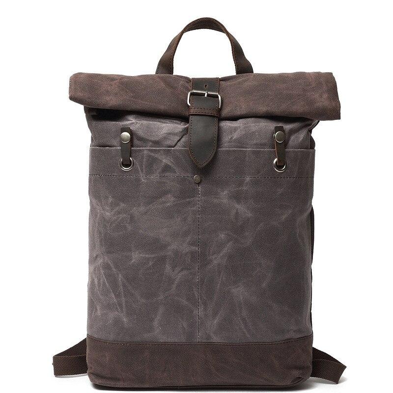 Hip Hop sacs à dos toile cirée sac à dos voyage sacs à dos étanche haute capacité alpinisme sac à dos hommes Vintage
