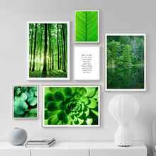 Green Plant Leaf Monstera Forest Agave Wall Art Canvas Painting Nordic Posters And Prints Pictures For Living Room Decor