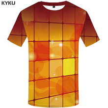 KYKU RubikS Cube T-shirt Men Geometric Tshirt Printed Tetris Shirt Print Russia Funny T shirts Harajuku T-shirts 3d