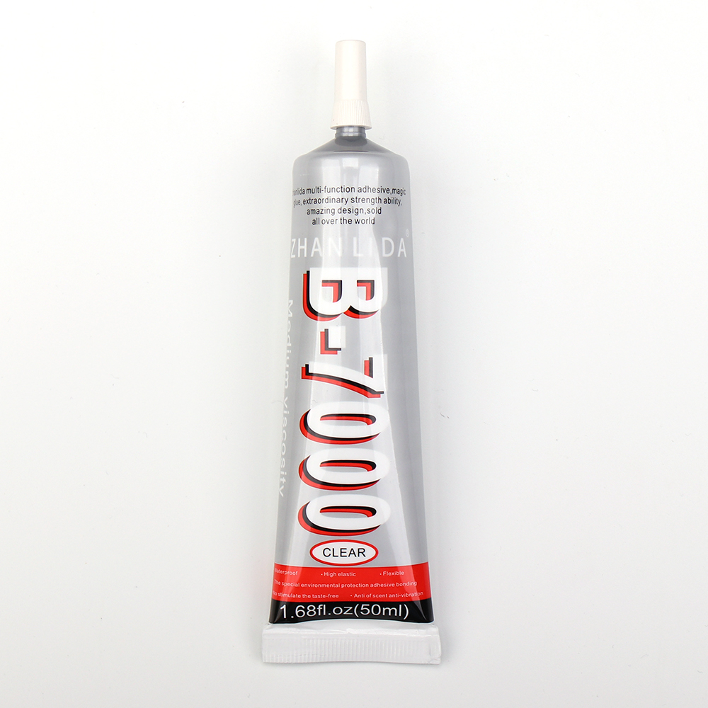 50ml B-7000 Multipurpose Polyurethane Clear Glue for Metal Glass Stone Porcelain Wood Bamboo Leather Fabric Plastic Paper image