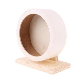 Pet Hamster Roller Wheel Natural Wood Play Toys Chinchilla Guinea Pig Squirrel Toy Rotate Running Exercise For Small Pets Bogie