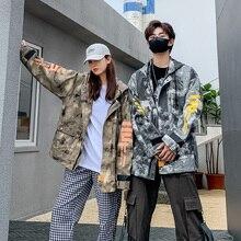 Chaqueta Coat Bomber-Jacket Oversized Streetwear Print Autumn Korean Plus-Size Women