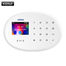 KERUI WIFI GSM Home Security Alarm 2.4 inch TFT Color Touch Panel APP Control RFID Card Wireless Smart Home Burglar Alarm Host