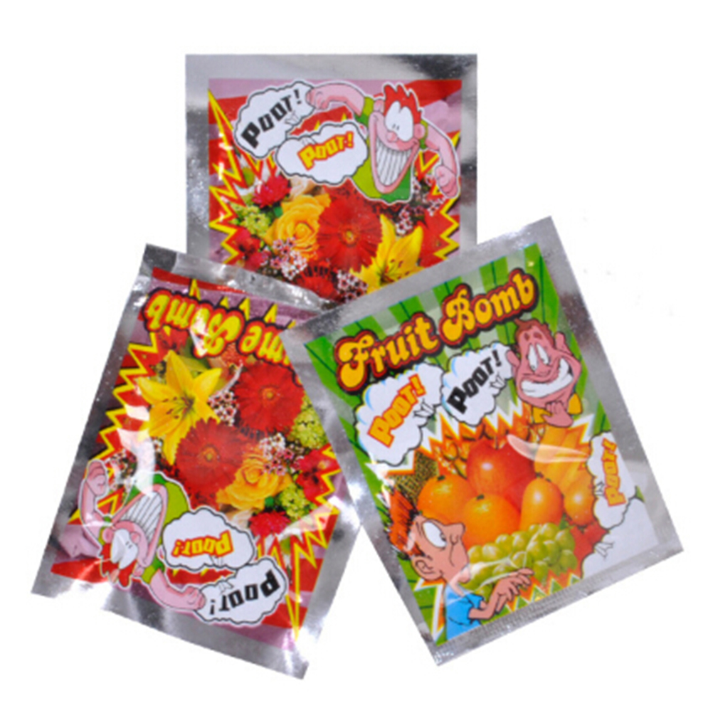 10pcs/lot Bomb Bags Stink Bomb Smelly Funny Gags Gags Toys For Kids Novelty Fart Practical Jokes Fool Toy