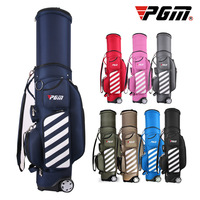 PGM Retractable Golf Bag with Wheel Patent Designed Golf Clubs Hard Bags Travelling Aviation Bags Package With Code Lock