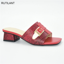 Wedding-Shoes Slipper Party-Pumps Summer Sandals Low-Heel Women New-Fashion for Simple
