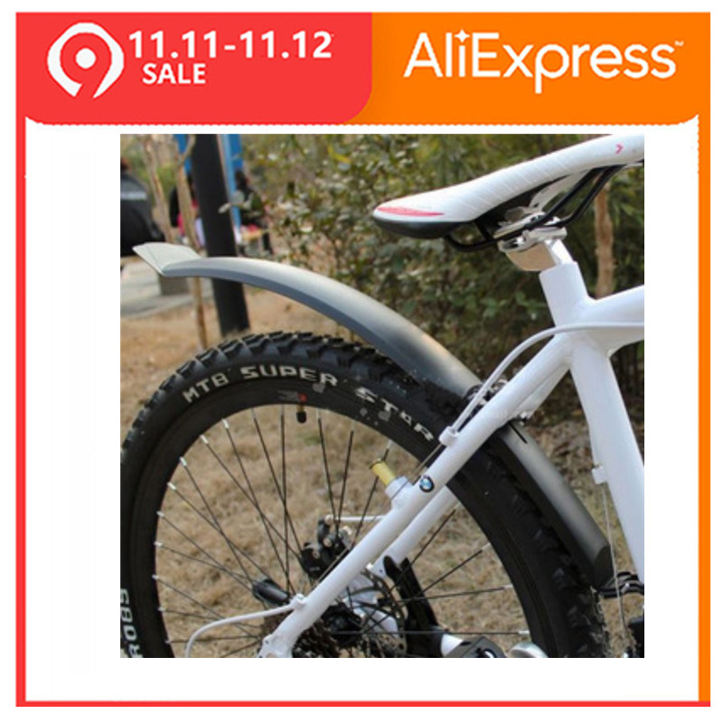 TOMOUNT 2 pièces accessoires de vélo cyclisme en plastique vtt garde-boue à dégagement rapide garde-boue de vélo route avant VTT garde-boue arrière