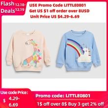 Little maven2-7Years Autumn Cotton Giraffe Print Toddler Kid's Baby Girl's Sweatshirt Children's Clothes For Girl Sweater Fleece