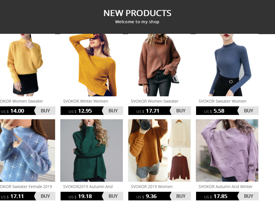 SVOKOR Sweater Women Solid Slim Half-neckline Warm Knitwear Winter Long Sleeve Turtleneck Top 1