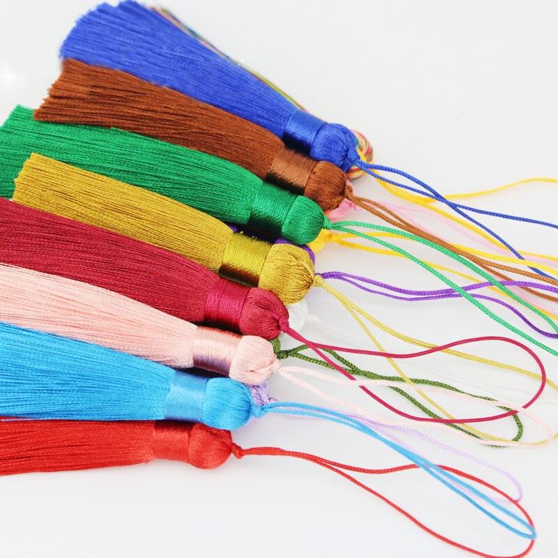 (5 шт.) 80 мм шелковые кисточки/Аксессуары для сережек // аксессуары для ювелирных изделий/фурнитура для ювелирных изделий оптом