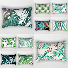 Decorative Throw Pillows Tropical plants Pillow Cover 30x50 Polyester Cushion Cover Decoration Pillowcase Cushions Home Decor