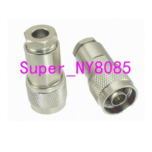 1pce Connector N male plug clamp RG5 RG6 5D-FB LMR300 cable straight