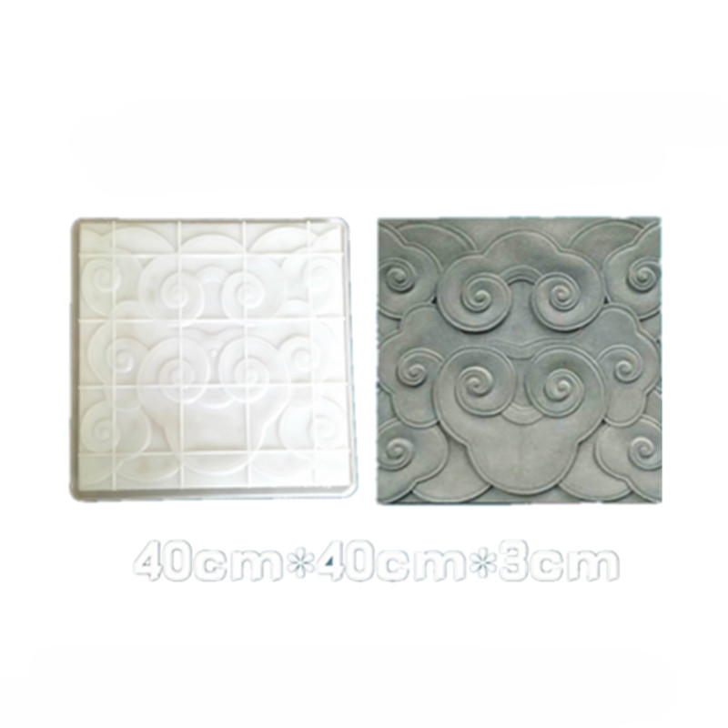 Cement Paver Mould for Floor Brick Making Ancient Building Decoration Brick Embossed Shadow Wall Brick Paving Plastic Mould