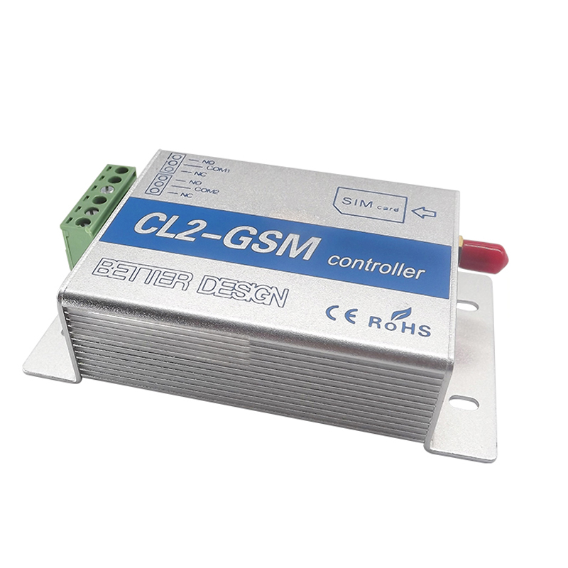 Cl2-Gsm Wireless Remote Control Relay Switch Sms Smart Home Security System Switch Silver+Blue Aluminum Alloy Eu Plug